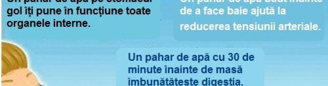 Beneficiile pentru sanatate ale apei